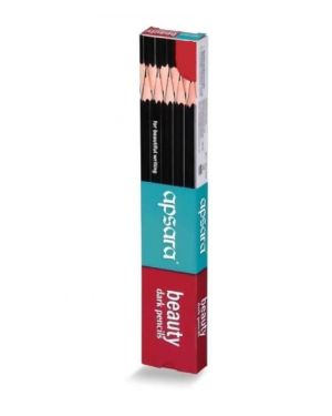Apsara Beauty Dark Pencil HB Pack of 10 Pcs. Black