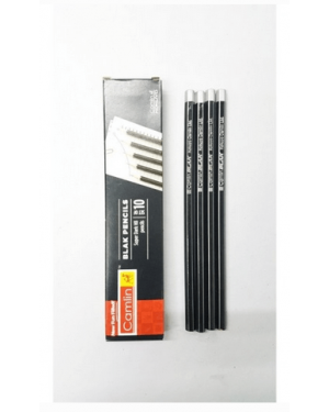 Camlin Black Pencil HB Pack of 10 Pcs. Black